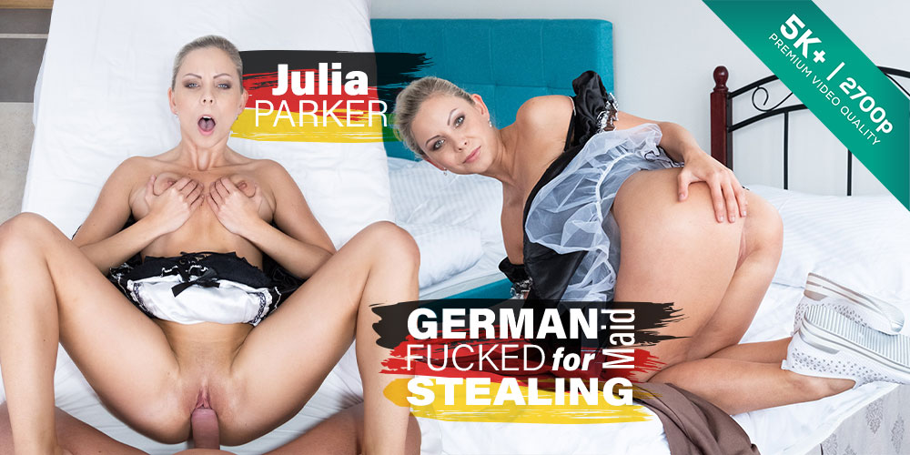 Czech VR #282 German Maid Fucked for Stealing
